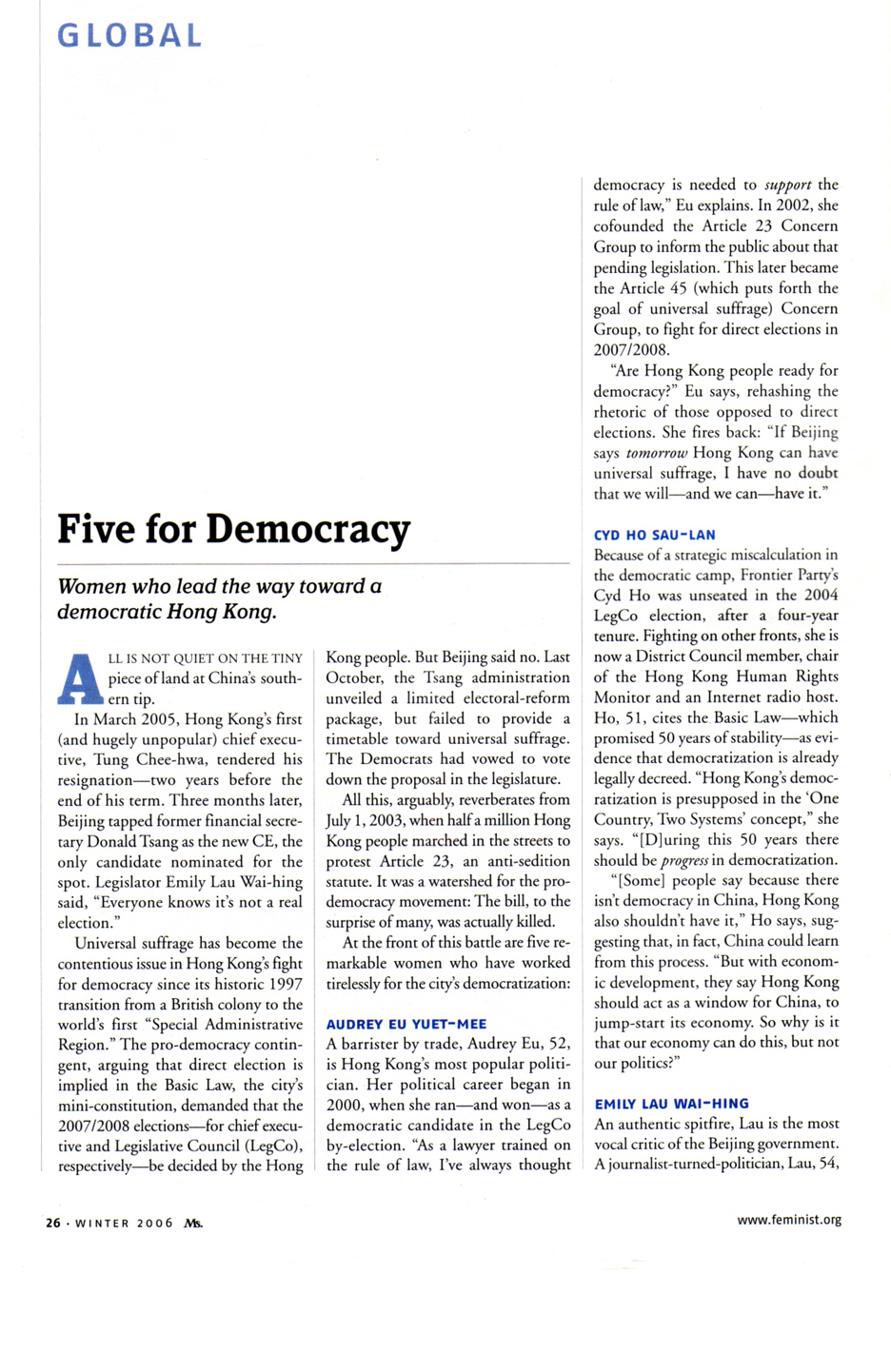 Five for democracy 1